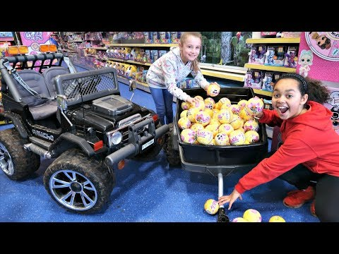 87 LOL Surprise Dolls Confetti Pop Toy Hunt! Power Wheels Ride On Car | Toys AndMe