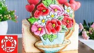 Украшение Торта для Девушки. Торт с пряниками на день рождения