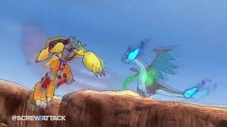 Mega Charizard X VS WarGreymon - Pokemon VS Digimon | DEATHBATTLE!