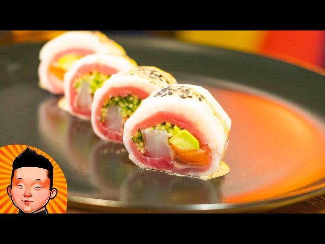 Рецепт ролла без нори и без риса в Дайконе | Sushi Daikon