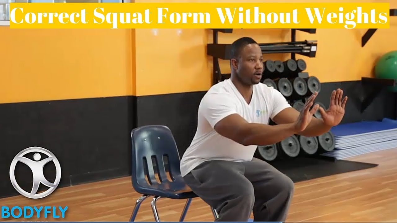 Correct Squat Form Without Weights - YouTube