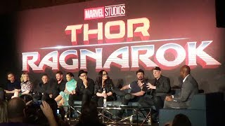 (SPOILERS) Marvel THOR Ragnarok FULL Press Conference w/Chris Hemsworth, Kevin Feige, Mark Ruffalo+