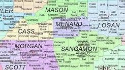 Illinois vector map
