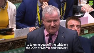 Ian Blackford urges Theresa May to 'do the right thing' and take #NoDealBrexit off the table