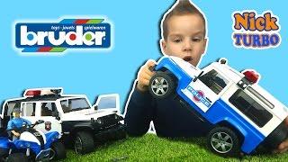 ПОЛИЦЕЙСКАЯ МАШИНА Брудер. ВНЕДОРОЖНИК Land Rover ПОГОНЯ Обзор игрушки с Nick TURBO BRUDERTOYS