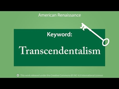 Keyword: Transcendentalism
