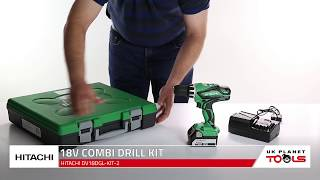 Hitachi DV18DGL 18V Cordless Combi Drill With 1 x 5Ah Battery, Charger & Case | UK Planet Tools