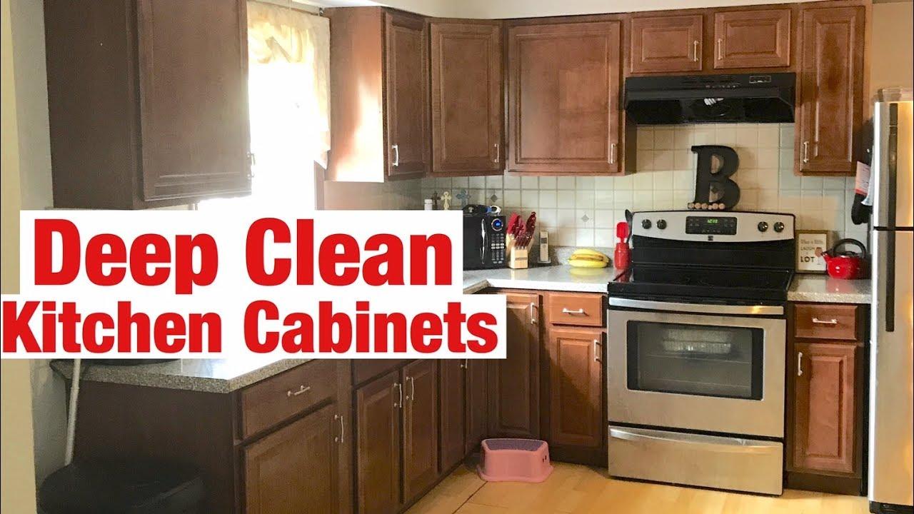 ... Deep Clean Kitchen Cabinets