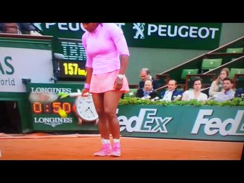 Serena Williams swearing French Open 25/5/15