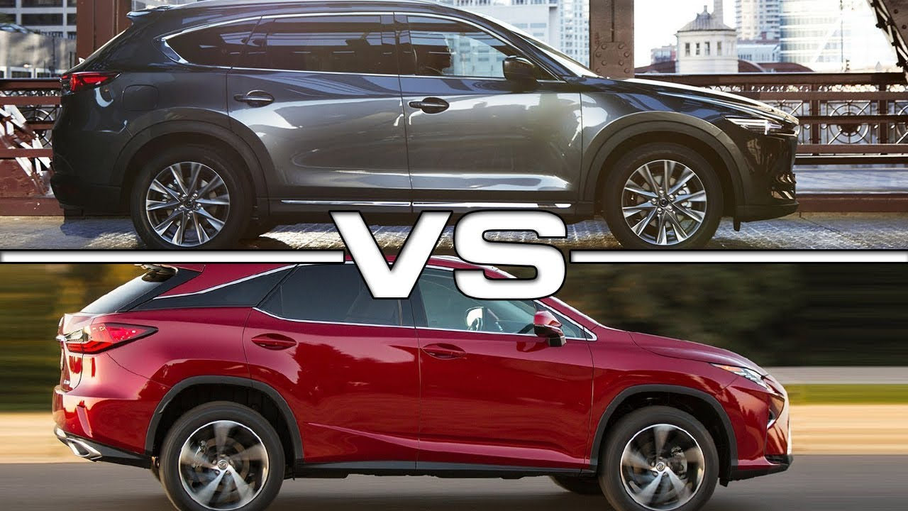 2018 Mazda CX-8 vs 2017 Lexus RX350 - YouTube