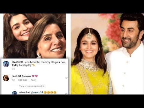 Mother Neetu Kapoor Gives THUMBS UP For Alia Bhatt And Son Ranbir Kapoor's Affair ?