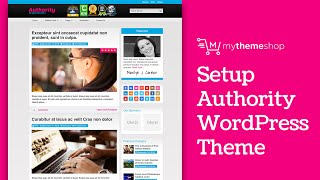Authoriy WordPress Theme Setup Tutorial