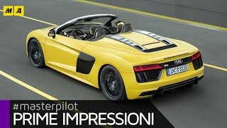 Audi R8 Spyder | Primo test [ENGLISH SUB]