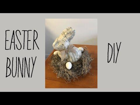 Farmhouse/Shabby Chic Easter Bunny Centerpiece Decor