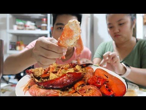 Ăn TÔM HÙM Maine sốt Cajun Lousiana | Maine Lobster with Cajun sauce thumbnail