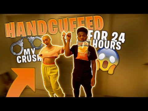 CUFFED TO MY CRUSH FOR 24 HOURS! *I accidentally cut her hair*