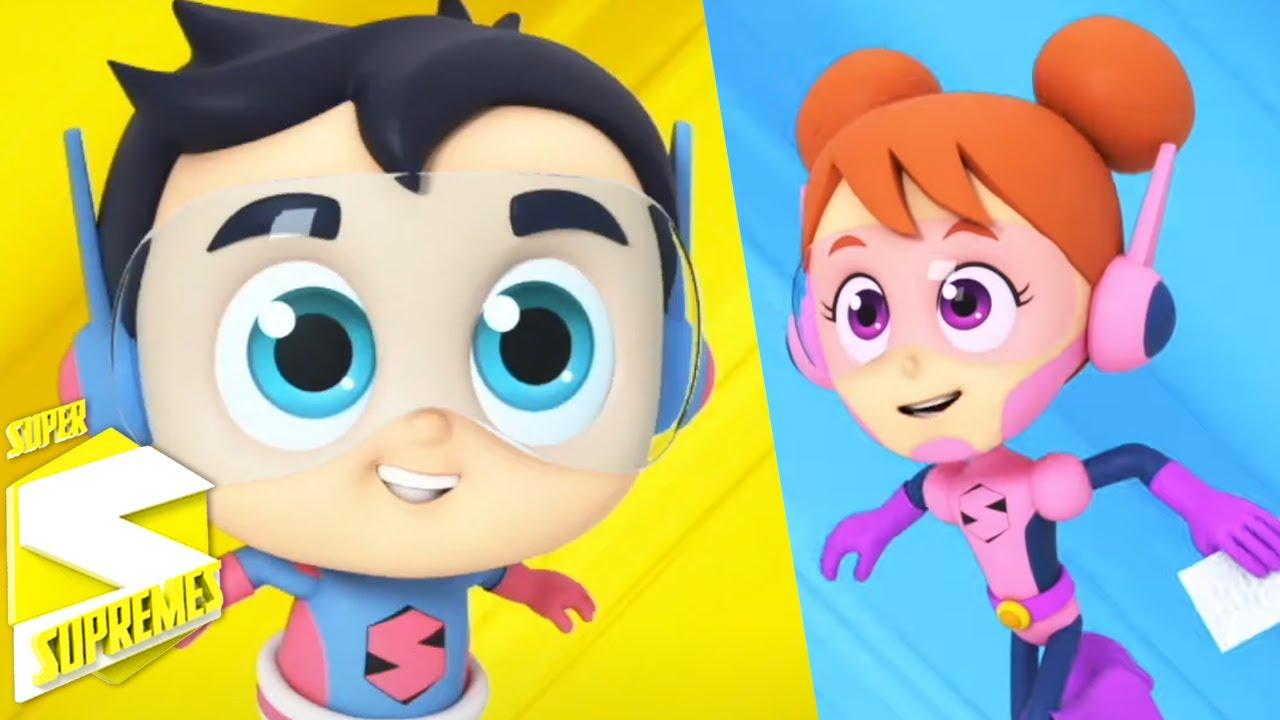 Búsqueda de tesoros   Música para niños   Videos preescolares   Super Supremes Español   Educación
