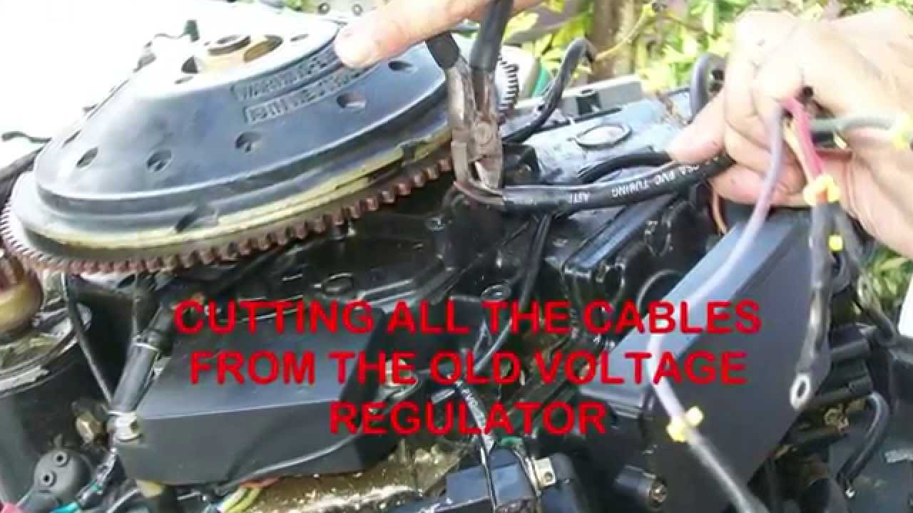 Yamaha 90hp Outboard Wiring Diagram 24v Alternator Replacing The 100 Voltage Regulator On Motors With A 4 Radio Shack Full Wave Rectifier