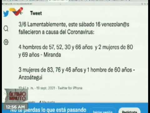 (VIDEO) Covid-19: 838 nuevos casos con 16 decesos reportó Venezuela en las últimas horas