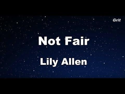 Not Fair  - Lily Allen Karaoke【No Guide Melody】