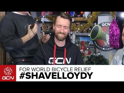 #SHAVELLOYDY For World Bicycle Relief – LIVE