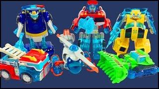 Transformers Rescue Bots Energize Toys Optimus Prime Bumblebee Heatwave Boulder Chase Blades Figures