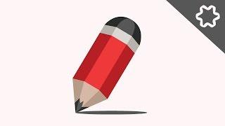 Adobe illustrator CC logo design tutorial - pencil logo with polygon style / low poly logo design