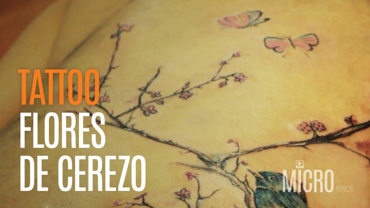 Tatuaje De Flores De Cerezo Xaga Tattoo Youtube