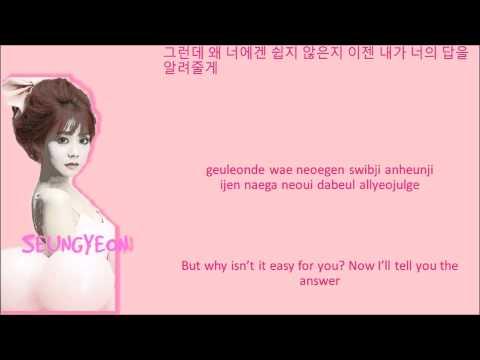 KARA I Luv Me Lyrics Color Coded+Hangul+Rom+Eng