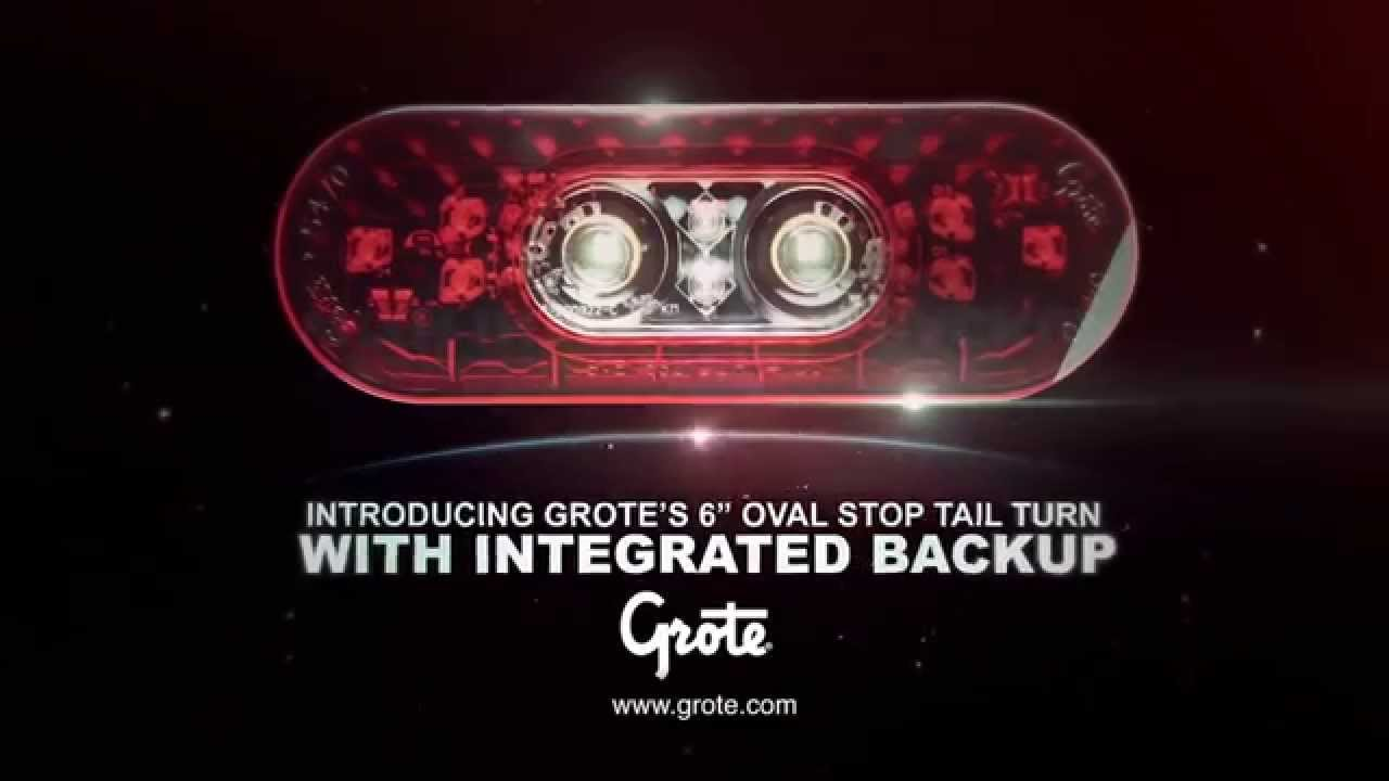 hight resolution of 6 oval led stop tail turn light with integrated reverse function by grote raney s truck parts