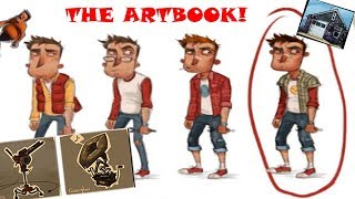 THE HELLO NEIGHBOR ART BOOK... (EARLY ART AND DESIGNS!!)