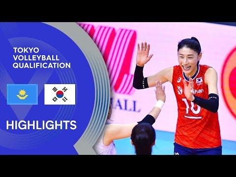 Kazakhstan vs. Korea - Highlights   AVC Women's Tokyo Volleyball Qualification 2020