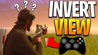 How To Turn On Invert Controls On Fortnite Fortnite Inverted Controls Challenge Playing Fortnite With Invert View Impossible Youtube