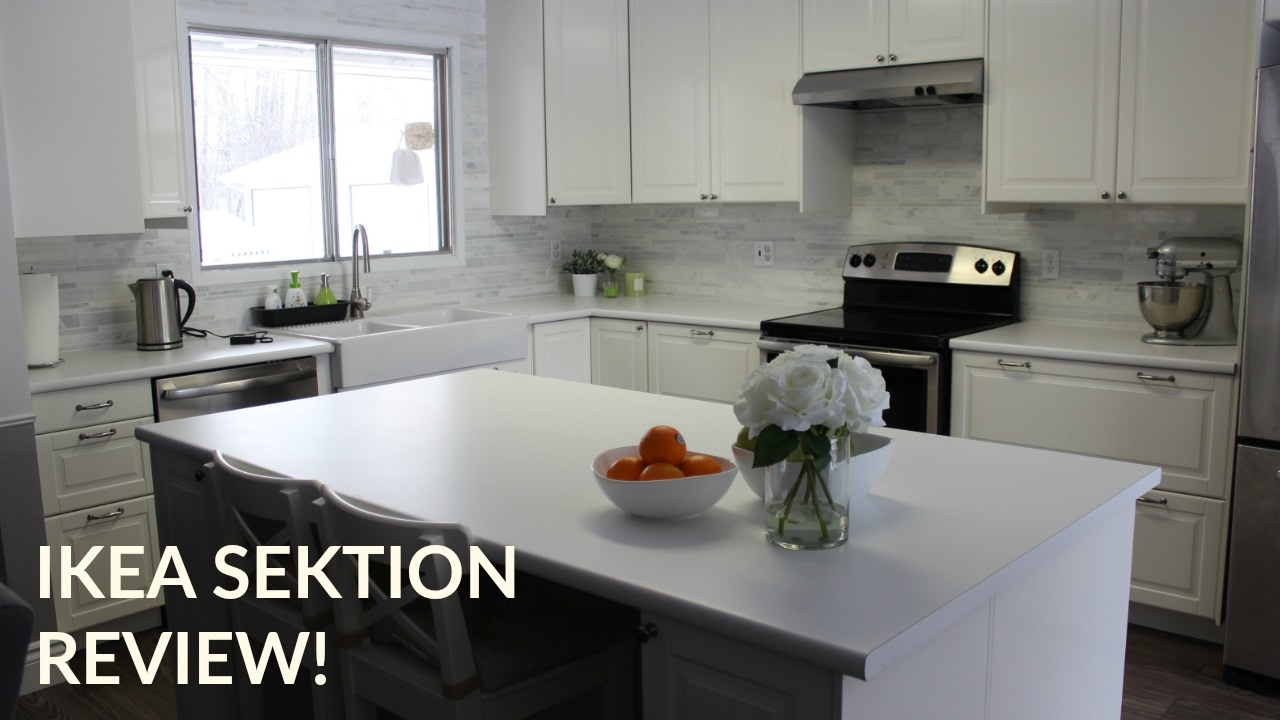 Ikea Sektion Kitchen Cabinets Classy Ikea Sektion Kitchen Review  Diy  Youtube Inspiration Design