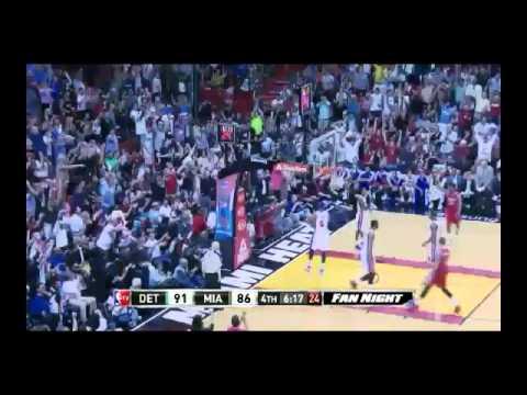 NBA CIRCLE - Detroit Pistons Vs Miami Heat Highlights 3 Dec. 2013 www.nbacircle.com