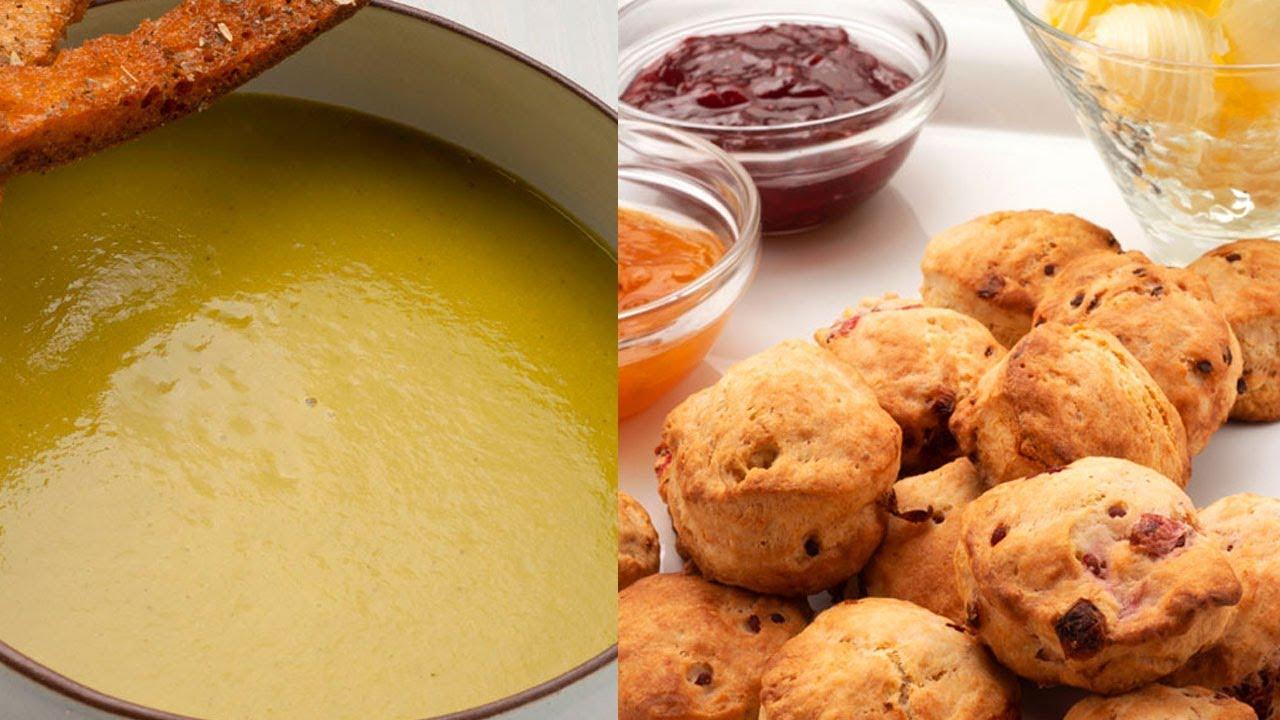 Crema De Verduras Con Picatostes Scones Cocina Abierta De Karlos Arguiñano Youtube