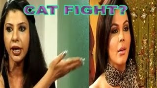 Rakhi Sawant vs Sambhavana Seth : Cat Fight !!