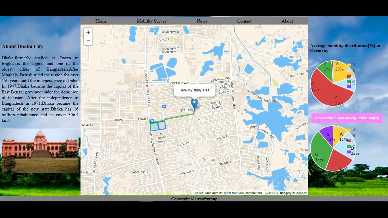 Web Map /Web GIS Aplication based on OpenStreetMap, Leaflet,JavaScript  graphs Libraies