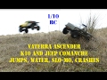 Jumps, water, beach, slo-mo RC Vaterra K10 and Jeep Comanche