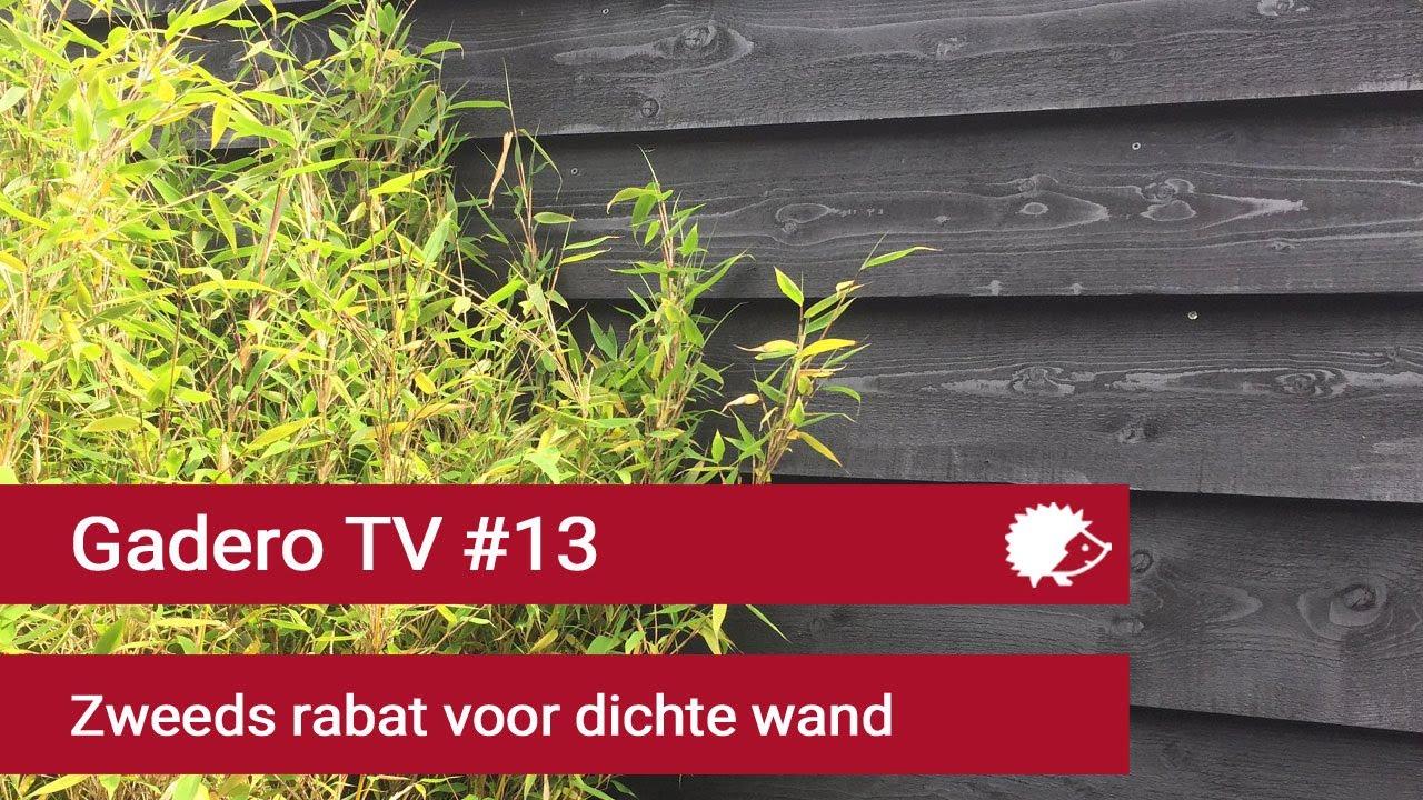 Zweeds Rabat Schutting Laten Plaatsen.13 Dichte Wand Maken Met Zweeds Rabat Potdekselplanken Youtube