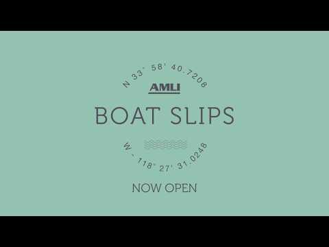 Boat Slips at AMLI Marina del Rey