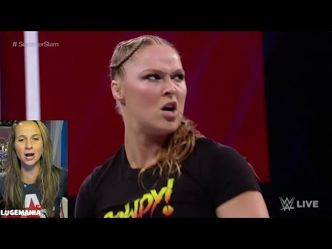 WWE Raw Ronda 81318 Ronda Rousey Takes out Security Guards