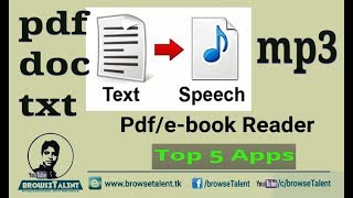 Video Text to Speech Converter for free | How to Convert doc/pdf/text files to audio/mp3 files download MP3, 3GP, MP4, WEBM, AVI, FLV November 2018