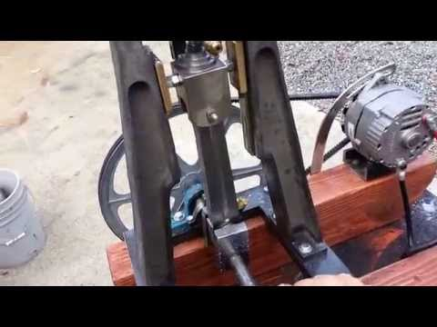 Steam boiler engine Allen S Steam Engine with Alternator DC Electricity Off Grid