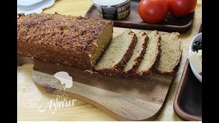 Brot backen ohne Mehl I Brot Rezept mit HaferflockenI