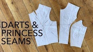 How to Move Darts & Create Princess Seams (Pattern Making Tutorial)