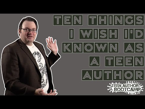 Ten Things I Wish I'd Known as a Teen Author—Brandon Sanderson