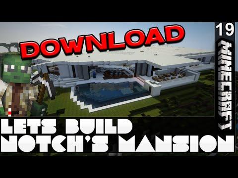 Notch's LA Mansion | Minecraft Let's Build | E19 + DOWNLOAD