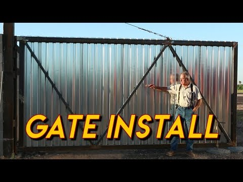 Massive Gate Installation