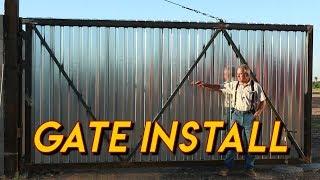 Massive Gate Installation